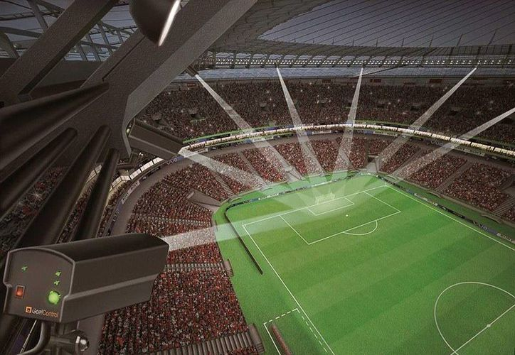 "Imagen generada por ordenador del sistema ""GoalControl GmbH"". (EFE/FIFA/Goal Control)"