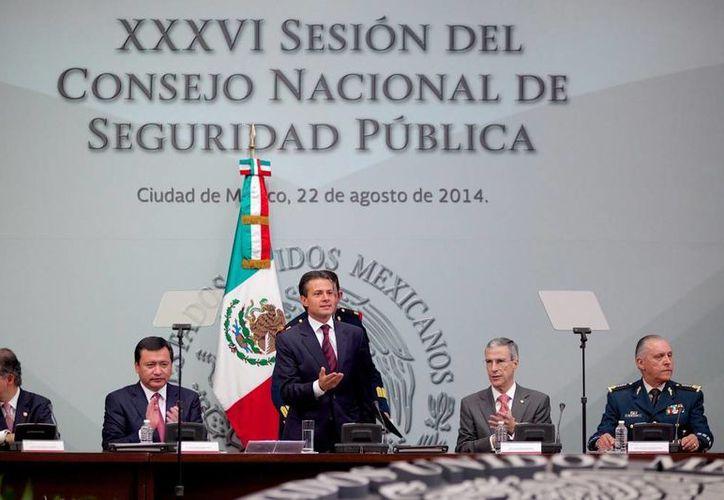 El presidente Enrique Peña durante la 36 sesión del Consejo Nacional de Seguridad Pública. (presidencia.gob.mx)