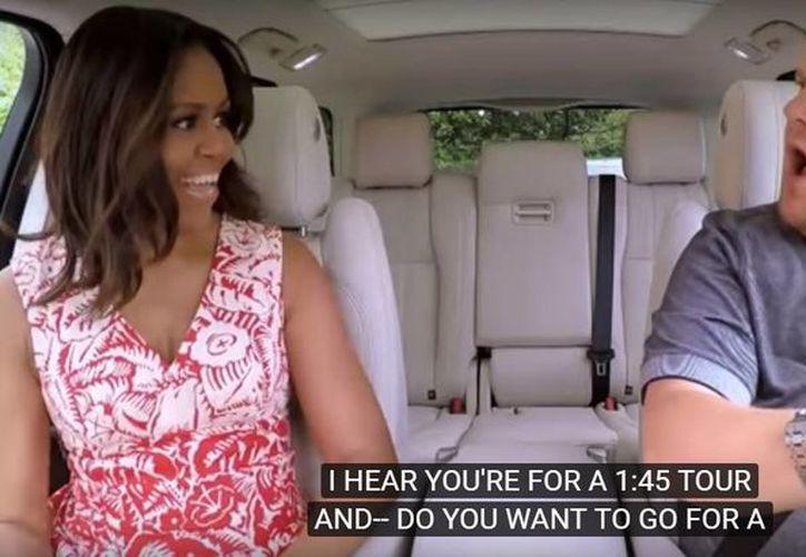 Michelle Obama acompañó a James Corden en el programa The Late Late Show. (Captura de pantalla/YouTube)