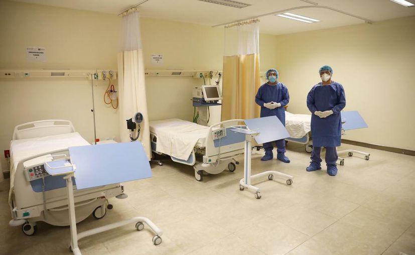 El Hraepy tiene la capacidad para instalar cientos de camas, además de que está equipado con ventiladores, monitores, etcétera. (Novedades Yucatán)