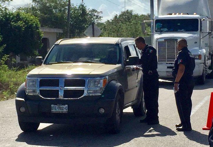 Los policías darán el perdón a ciertas situaciones que cometan los conductores. (José Chi/SIPSE)