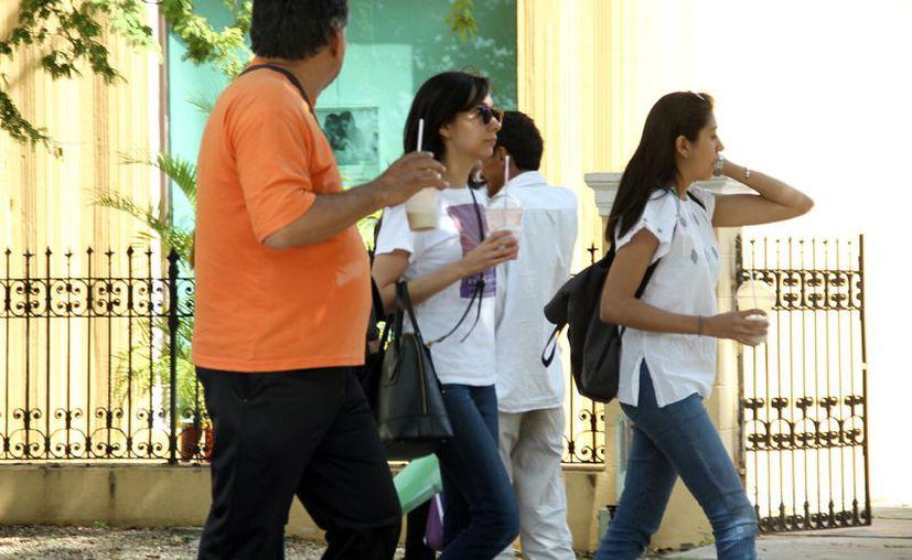 Para el viernes se pronostican temperaturas máximas de entre los 28 y 32 grados Celsius en los estados de Yucatán y de Quintana Roo, (Foto Jorge Acosta)