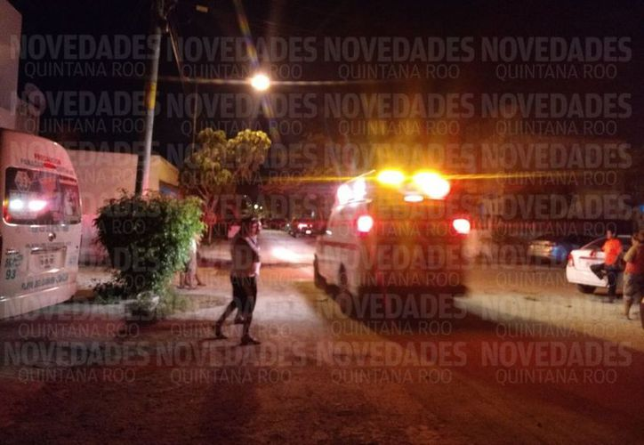 El ataque fue alrededor de las 21:40 horas (Eric Galindo/SIPSE).