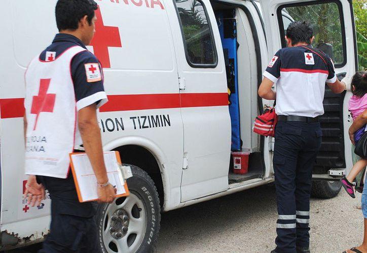 Una niña de dos años de edad se tragó un tornillo, por lo que fue traslada al hospital, en Tizimín. (SIPSE)