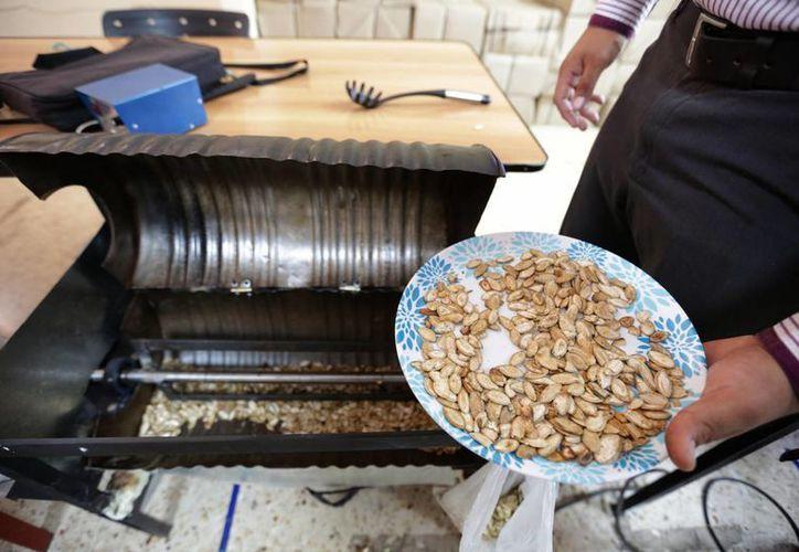 Esta es la tostadora casera para pepita de calabaza inventada por alumnos del Instituto Tecnológico de Mérida. (Notimex)