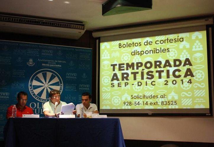 Funcionarios del Ayuntamiento de Mérida presenta la Temporada Artística Septiembre-Diciembre 2014 Olimpo Cultura. (SIPSE)