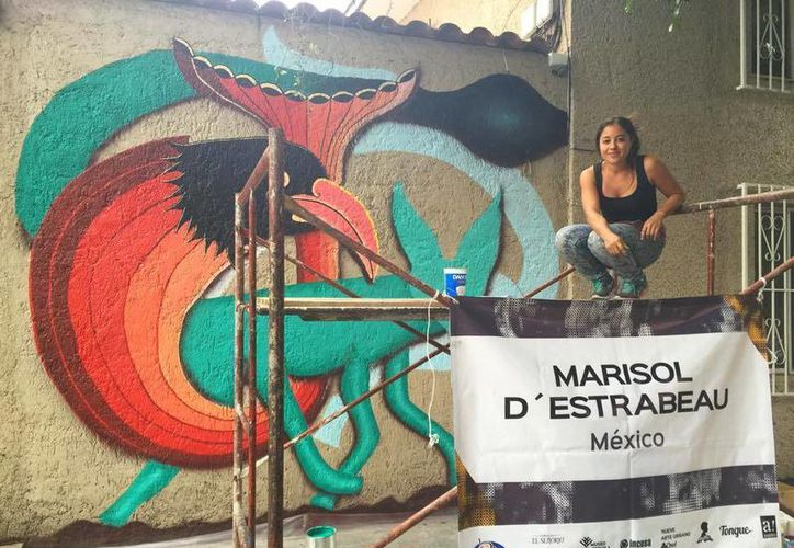 """Marisol D'Estrabeau representó a México en el festival de Arte Público """"Constructo"""". (Cortesía)"""