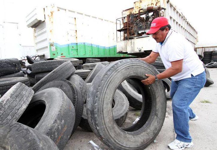 Planean retirar de la isla cerca de 28 toneladas de llantas de desecho. (Cortesía/SIPSE)