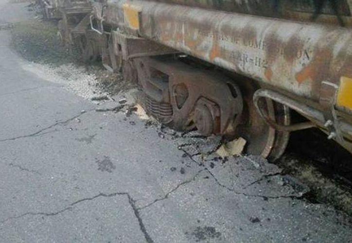 Repararán daños por percance ferroviario. (Milenio Novedades)