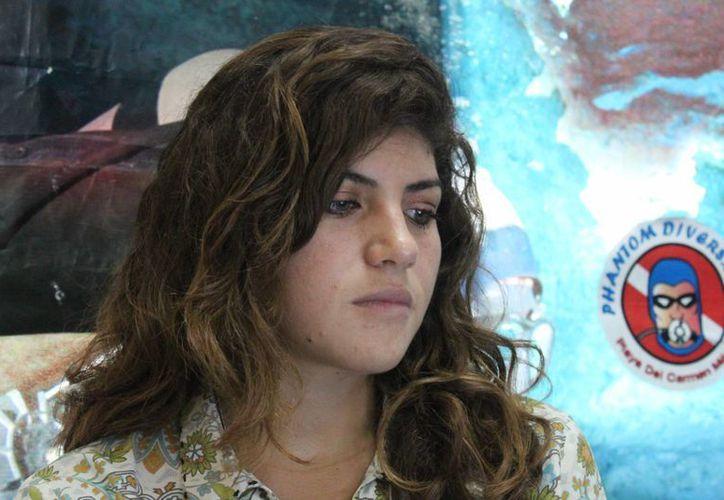 Ixchel García Carrillo dijo que llevan seis meses trabajando con los centros de buceo. (Adrián Barreto/SIPSE)