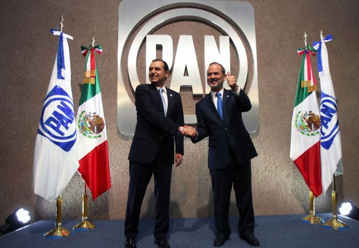 """Mientras que Madero (d) calificó el de ayer como """"un buen debate"""", Cordero criticó la organización. (Notimex)"""
