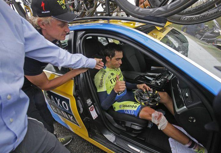 Con el abandono de Alberto Contador, el Tour de Francia se queda sin competidores que hayan ganado la prueba alguna vez. (Foto: AP)