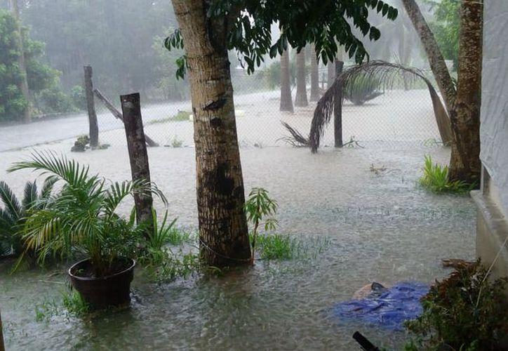 Los habitantes dijeron que este problema lo sufren cada vez que hay lluvias fuertes. (Carlos Castillo/SIPSE)