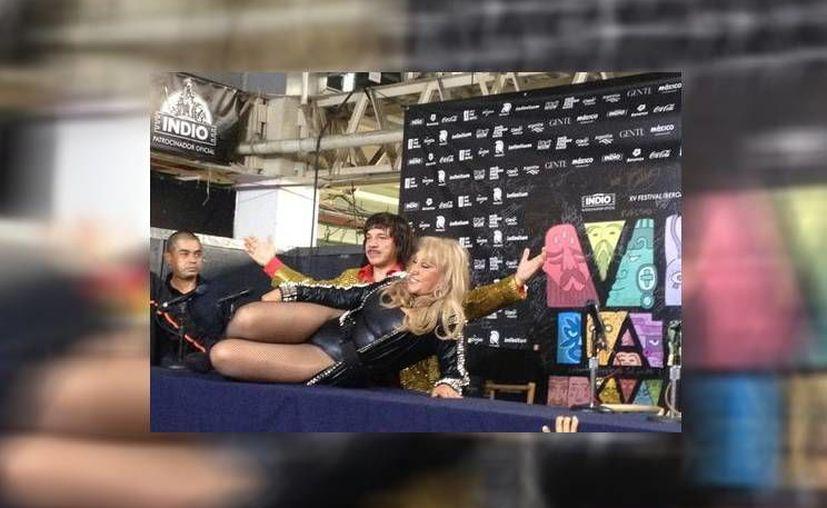 Laura León se presentará junto a Silverio en el escenario Unión Indiodel Vive Latino. (Iván Castañeda/Milenio)