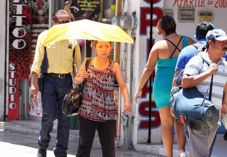 Mientras que este martes la temperatura máxima en la capital yucateca fue de 32.4 grados a las 14:00 horas, para este miércoles también se espera que haga calor. (Amílcar Rodríguez/Milenio Novedades)