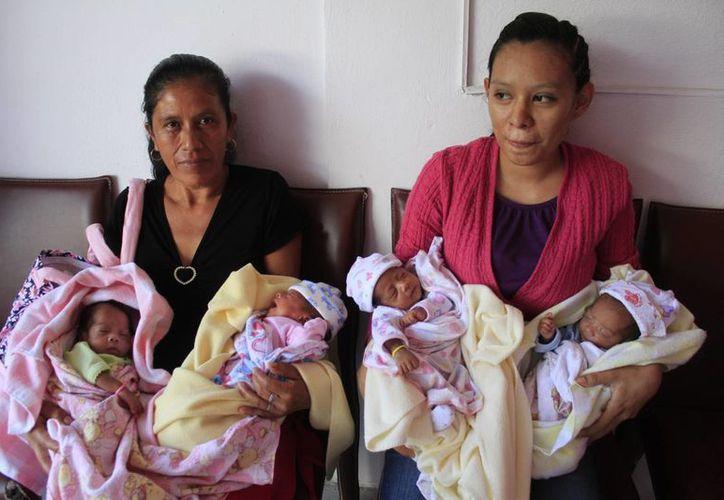 Las cuatrillizas nacieron en el Hospital General de Cancún. (Sergio Orozco/SIPSE)