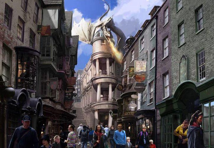 En los Estudios Universal, con sede en Los Angeles, se levantará un espacio dedicado a Harry Potter. En la foto, de junio del 2014 un área relativa a Harry Potter en el Universal Orlando Resort, en Orlando, Florida. (centrotampa.com)