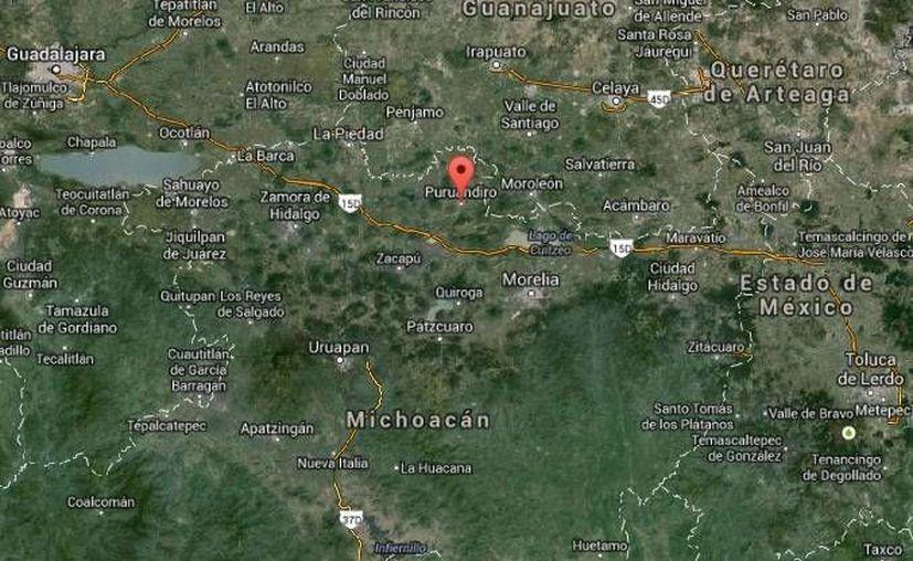 En las próximas horas un juez resolverá la situación jurídica de los 93 servidores públicos de Puruándiro presentados ante el MP en Michoacán. (Google Maps)