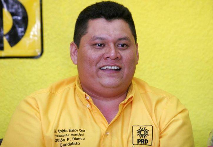 Andrés Blanco Cruz, candidato del sol azteca por la presidencia municipal de Othón P. Blanco. (Harold Alcocer/SIPSE)
