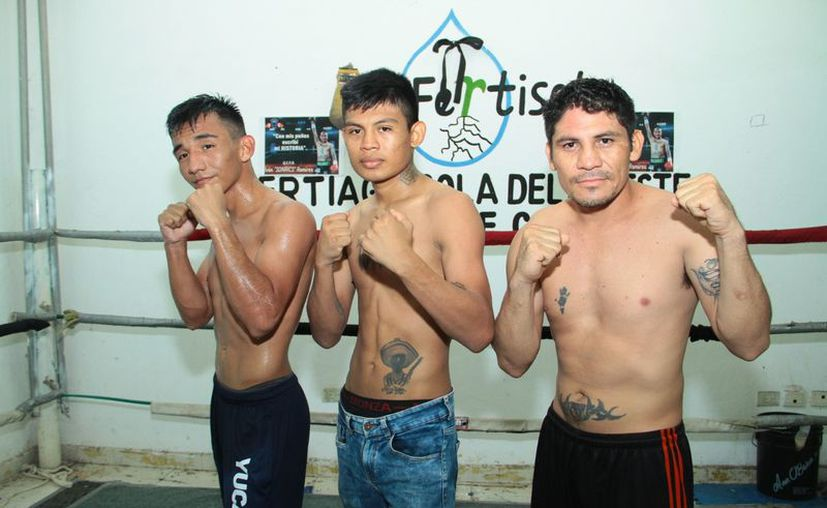 """Sergio de la Cruz, Víctor """"Vago"""" Durán y Alberto """"Malachito"""" Chuc. (Foto de Jorge Acosta)"""