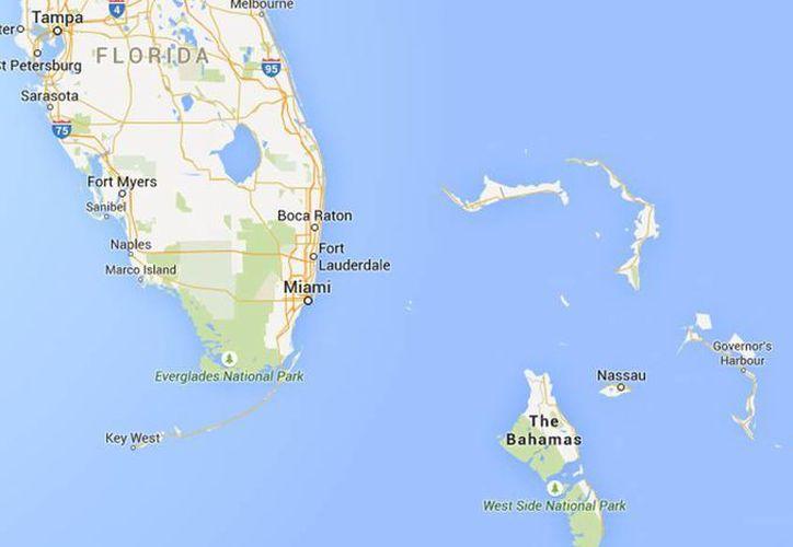 La avioneta cayó al océano Atlántico en las Bahamas, los pasajeros rescatados se encuentran en un hospital en Nassau. (Google Maps)