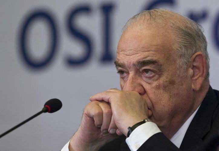 Sheldon Lavin,  presidente de OSI Group, durante una conferencia de prensa en Shanghai, el 28 de julio 2014. (Archivo/Reuters)