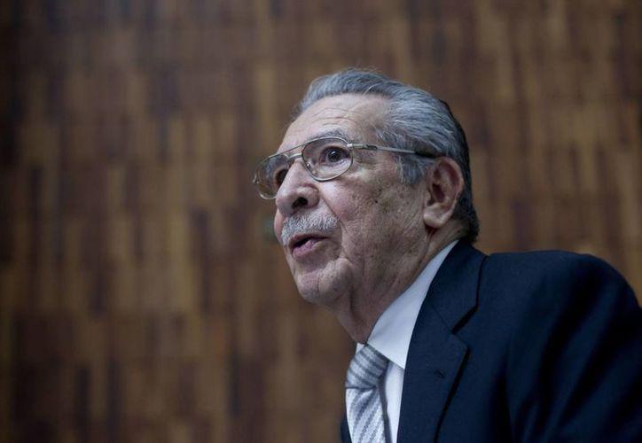 El general retirado José Efraín Ríos Montt asiste a la Corte Suprema de Guatemala. (EFE)