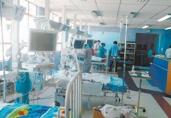 Vendada todo el cuerpo y entubada, Rosalía yace inmóvil en la sala de terapia intensiva. (la-razon.com)
