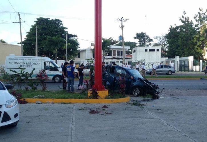 El accidente se registró en la avenida Bonampak. (Redacción/SIPSE)