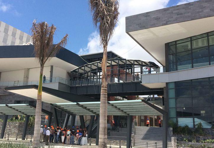 Presentación a medios de la nueva plaza de Cancún. (Luis Soto/ SIPSE)