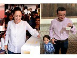 Emiten su voto Claudia Sheinbaum, Marco Rascón y Mikel Arriola