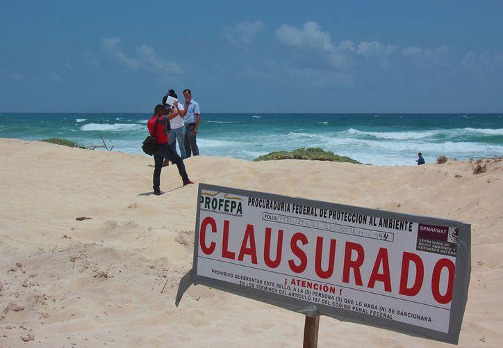 Los saqueos de arena en la zona oriental de la isla han quedado impunes debido a que PROFEPA y CONANP no actúan. (Foto: Gustavo Villegas/SIPSE)