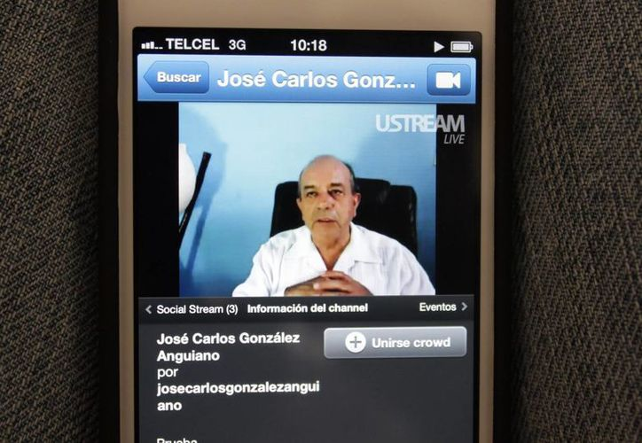 La transmisión virtual a través de ustream.tv. (Adrián Barreto/SIPSE)