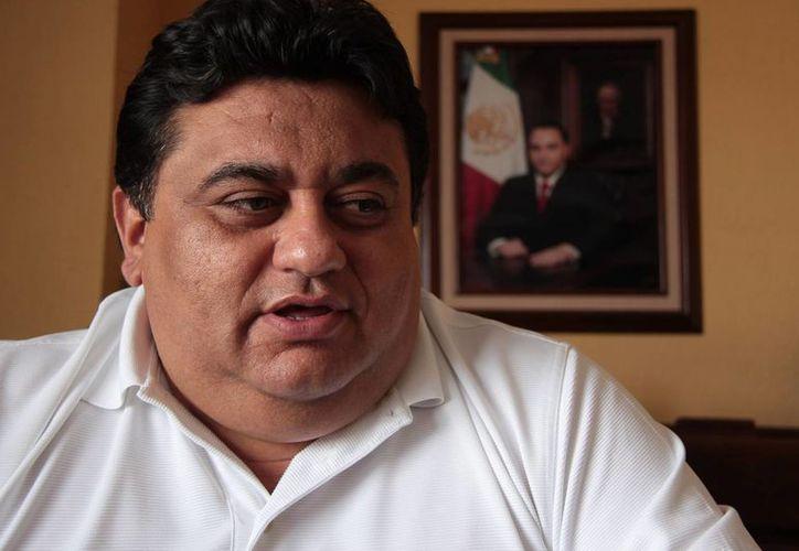 Fernando Marrufo Martín, líder del sindicato de taxistas. (Gustavo Villegas/SIPSE)