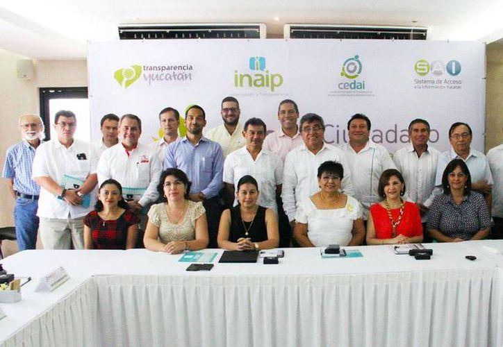 Cámaras y organismos participaron en la reunión del Consejo Ciudadano del Inaip. (Milenio Novedades)