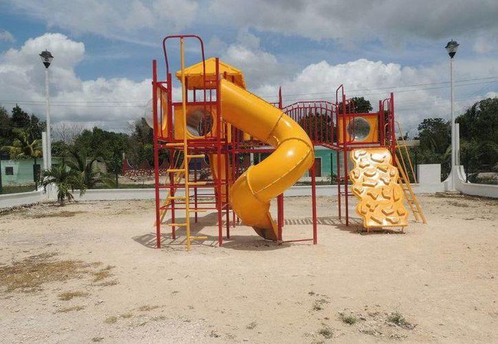 Habitantes de los poblados dijeron que ahora más niños acuden al parque. (Cortesía/SIPSE)