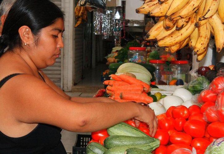 El poco salario no alcanza ni para lo más elemental, familias sufren pobreza alimentaria. (Enrique Mena/SIPSE)