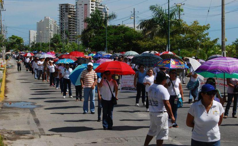Terminará en el parque de Las Palapas, donde están programadas actividades lúdicas e informativas para los padres de familia. (Archivo/SIPSE)