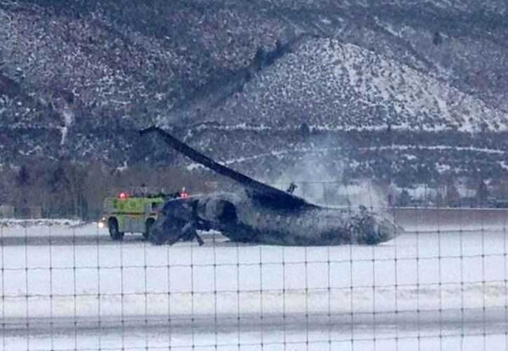 El accidente en el aeropuerto de Aspen, Colorado. (Agencias)
