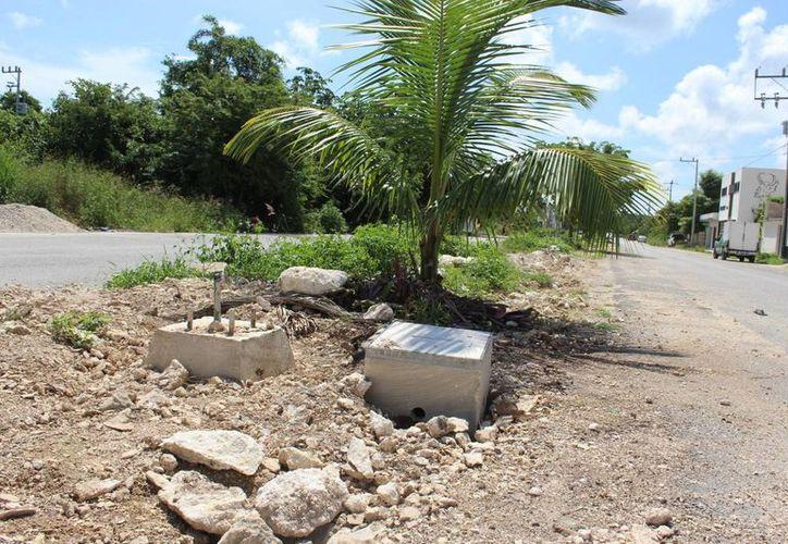 Estado actual de la avenida Tulum. (Sara Cauich/SIPSE)