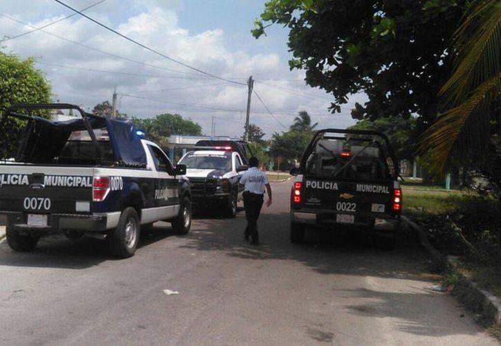 La Unidad Especializada en Atención a Víctimas de la Policía Municipal Preventiva, se hizo cargo del caso. (Redacción/SIPSE)