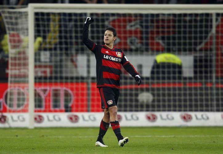El pasado 12 de diciembre, Javier Hernández marcó un hat-trick en la goleada del Bayer Leverkusen frente al Borussia Mönchengladbach. (Archivo AP)
