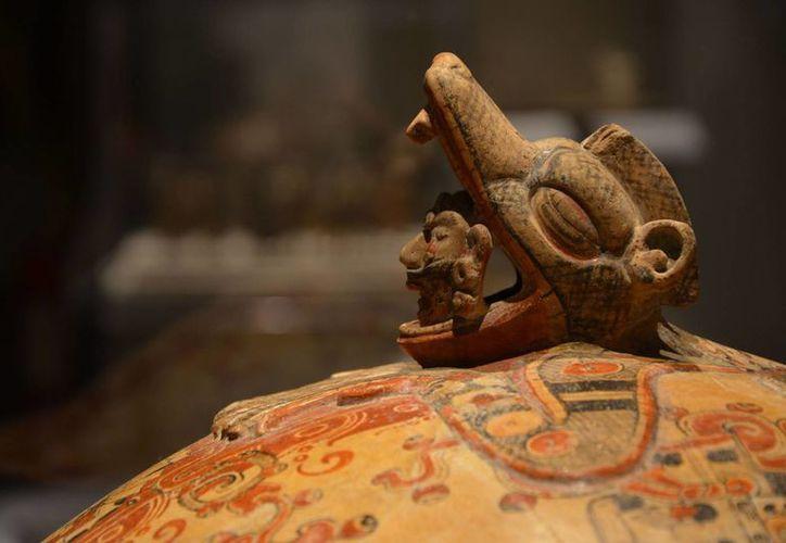 Una de las piezas que conforman la exposición 'Mayas. Revelación de un tiempo sin fin'. (Cortesía)