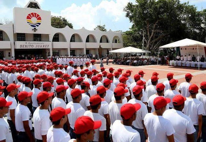 Se llevó a cabo la ceremonia Protesta de Bandera a los Soldados del Servicio Militar Nacional, Clase 1996. (Cortesía)