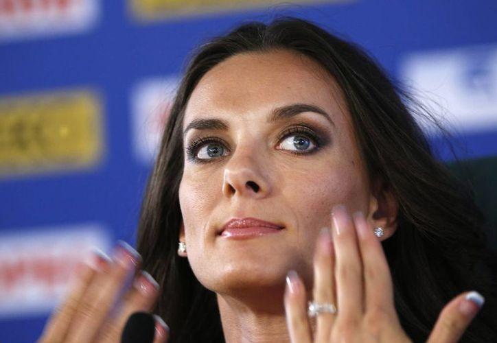 Isinbayeva criticó a atletas suecas que apoyaron a los homosexuales. (Agencias)