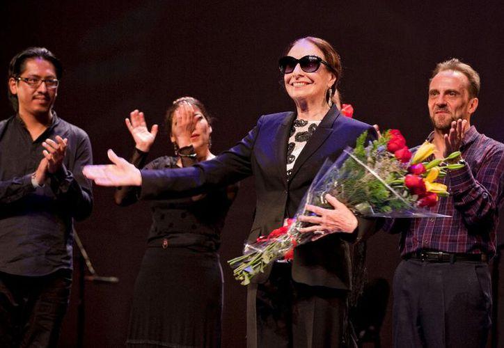 En 2015, Pilar Rioja recibió un homenaje en el Teatro de la Ciudad Esperanza Iris. (Cuartoscuro)