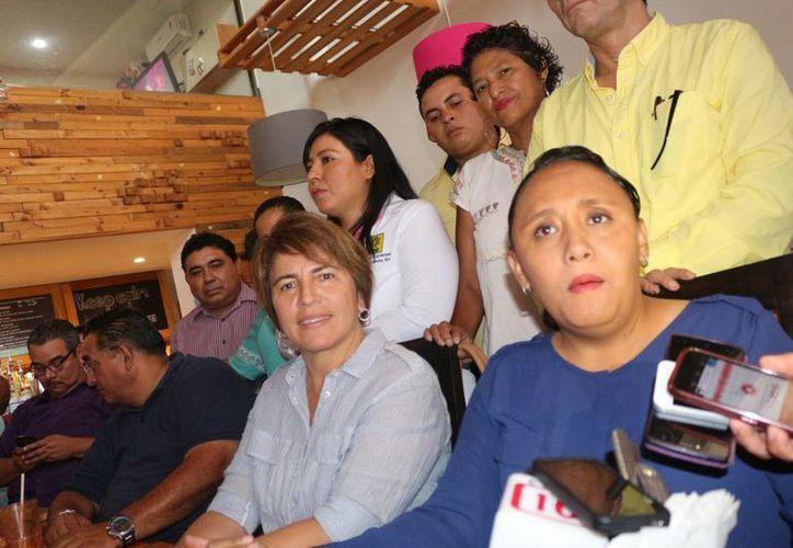 La presidenta electa del municipio de Solidaridad, Cristina Torres Gómez, aseguró que fomentará la participación ciudadana e su gobierno. (Adrián Barreto/SIPSE)