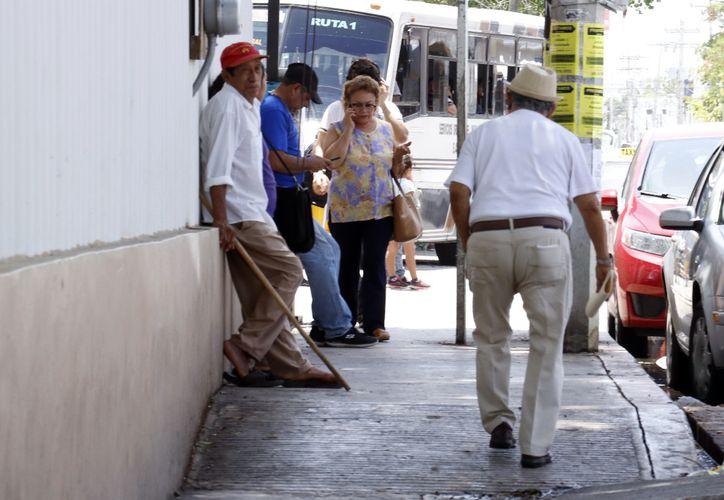 Muchos ancianos atraviesan por problemas económicos por no tener una pensión.  (Foto:  José Acosta/ Milenio Novedades)