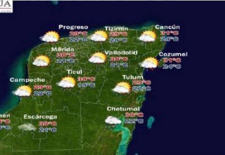 El cielo de Quintana Roo permanecerá parcialmente nublado durante este domingo. (Cortesía)