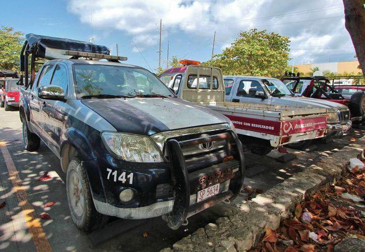 Dieciséis vehículos de la Dirección de Seguridad Pública serán dados de baja en Cozumel. (Gustavo Villegas/SIPSE)